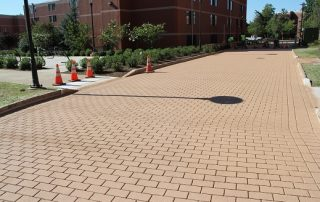 brown brick walkway
